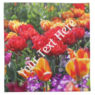 Falln Floral Crimson Waves Napkin
