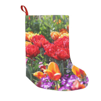 Falln Floral Crimson Waves Small Christmas Stocking