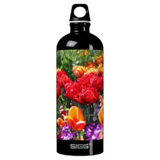 Falln Floral Crimson Waves Water Bottle