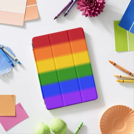 Falln Gay Pride Flag Rainbow iPad Pro Cover