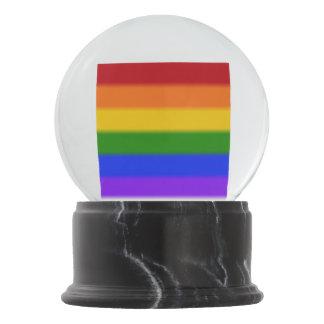 Falln Gay Pride Flag Snow Globe