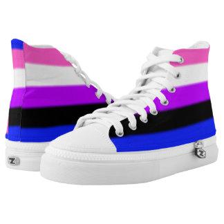 Falln Genderfluid Pride Flag High Tops