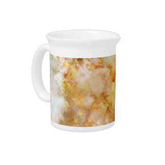 Falln Gold Rippled Marble Pitcher