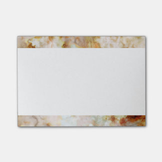 Falln Gold Rippled Marble Post-it Notes