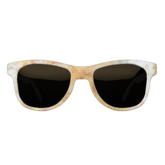 Falln Gold Rippled Marble Sunglasses