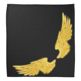 Falln Golden Angel Wings Bandanna