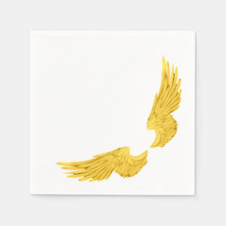 Falln Golden Angel Wings Disposable Serviettes