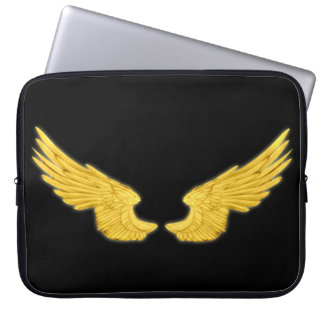 Falln Golden Angel Wings Laptop Sleeve