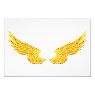 Falln Golden Angel Wings Photo Print