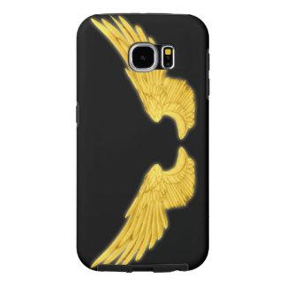 Falln Golden Angel Wings Samsung Galaxy S6 Cases