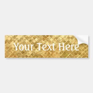 Falln Golden Checkerboard Bumper Sticker