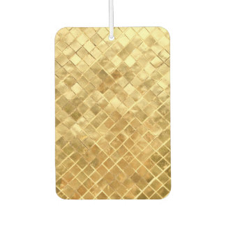 Falln Golden Checkerboard Car Air Freshener