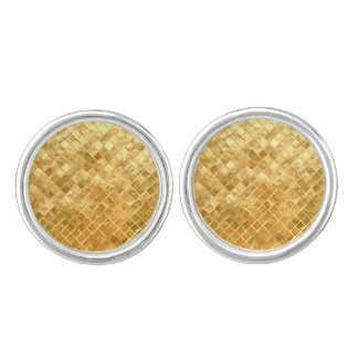 Falln Golden Checkerboard Cufflinks