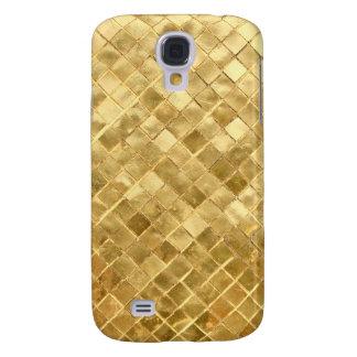 Falln Golden Checkerboard Galaxy S4 Cases