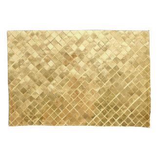 Falln Golden Checkerboard Pillowcase