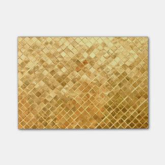 Falln Golden Checkerboard Post-it Notes