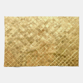 Falln Golden Checkerboard Tea Towel