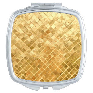 Falln Golden Checkerboard Travel Mirrors