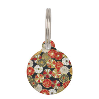 Falln Golden Chrysanthemums Pet Tag
