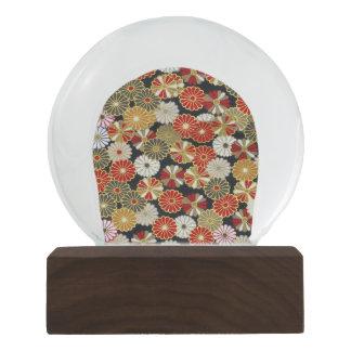 Falln Golden Chrysanthemums Snow Globes