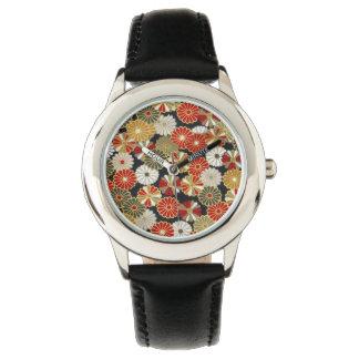 Falln Golden Chrysanthemums Wrist Watch