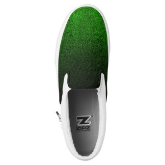 Falln Green & Black Glitter Gradient Slip On Shoes