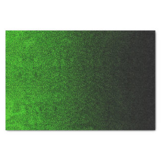 Falln Green & Black Glitter Gradient Tissue Paper