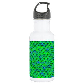 Falln Green Blue Scales 532 Ml Water Bottle
