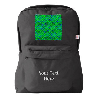 Falln Green Blue Scales Backpack