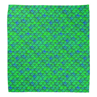 Falln Green Blue Scales Bandana