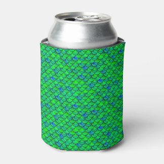 Falln Green Blue Scales Can Cooler