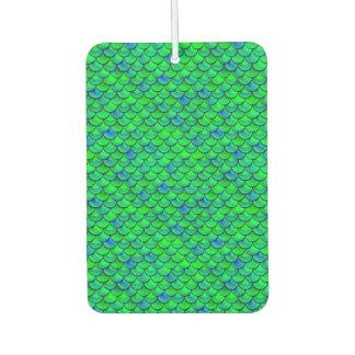 Falln Green Blue Scales Car Air Freshener
