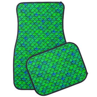 Falln Green Blue Scales Car Mat