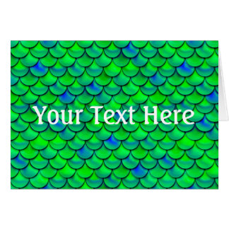 Falln Green Blue Scales Card