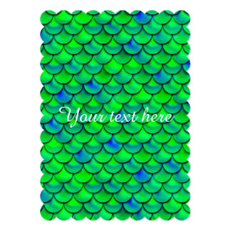 Falln Green Blue Scales Card