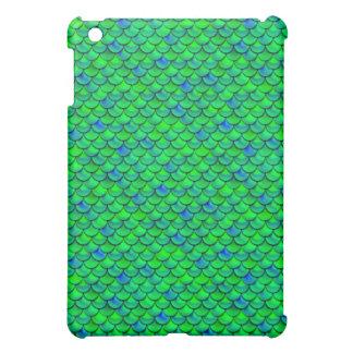 Falln Green Blue Scales Case For The iPad Mini