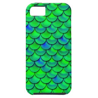 Falln Green Blue Scales Case For The iPhone 5