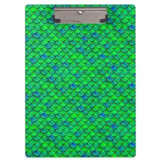 Falln Green Blue Scales Clipboard