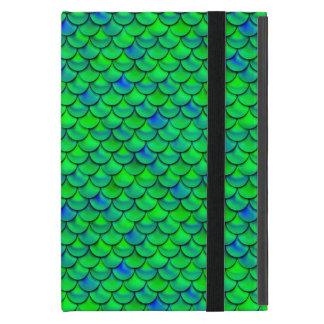 Falln Green Blue Scales Cover For iPad Mini