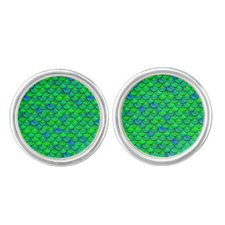 Falln Green Blue Scales Cufflinks