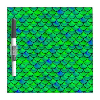 Falln Green Blue Scales Dry Erase Board