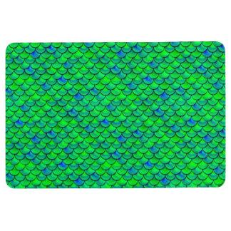 Falln Green Blue Scales Floor Mat