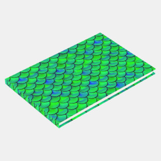 Falln Green Blue Scales Guest Book