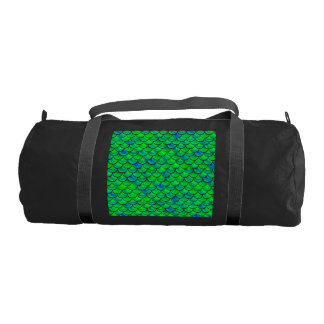 Falln Green Blue Scales Gym Bag