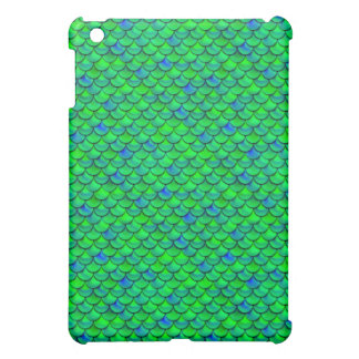 Falln Green Blue Scales iPad Mini Covers
