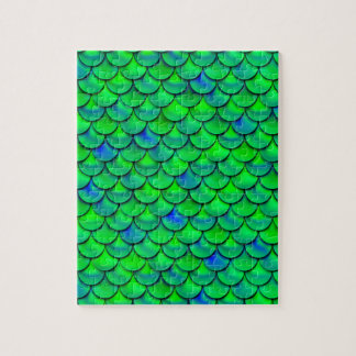 Falln Green Blue Scales Jigsaw Puzzle
