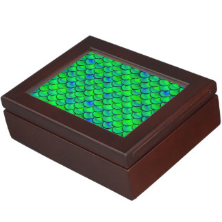 Falln Green Blue Scales Keepsake Box
