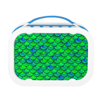 Falln Green Blue Scales Lunch Boxes