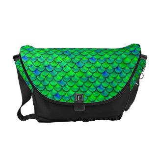 Falln Green Blue Scales Messenger Bag