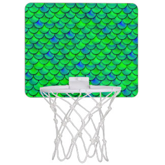 Falln Green Blue Scales Mini Basketball Hoop